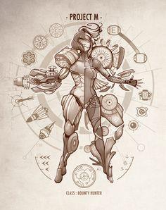Project M - Da Vinci Edition Art Print #metroid #samus #aran #nintendo