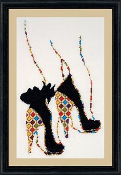 Quilted Heels - Cross Stitch Kit