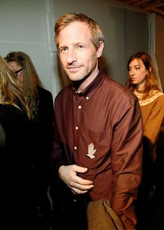 Spike Jonze backstage at the adidas Originals x Kanye West YEEZY SEASON 1 fashion show during New York Fashion Week Fall 2015 at Skylight Clarkson Sq on February 2015 in New York City. Yeezy Season 1, Gia Coppola, Spike Jonze, Celebrity Stars, Fashion Show, Fashion Outfits, February 12, Skylight, Kanye West