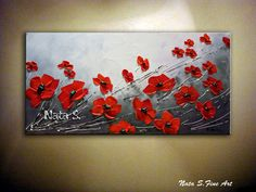 Red Poppy Painting Poppies Field Wild Poppy by NataSgallery