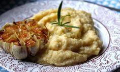 Jáhlovo-květáková kaše s pečeným česnekem Gaps Diet, Baked Potato, Risotto, Mashed Potatoes, Vegetarian Recipes, Side Dishes, Paleo, Baking, Ethnic Recipes