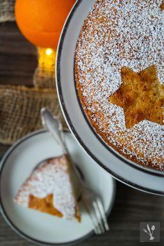 Weihnachtlicher Orangen-Mandel-Kuchen #ichbacksmir #weihnachtskuchen #xmas #cake
