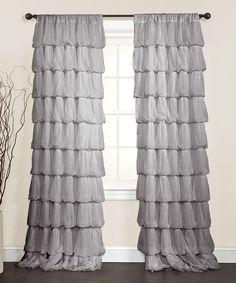 Gray Olivia Curtain Panel