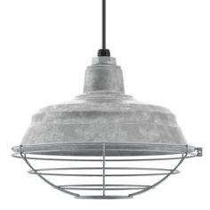 The Old Dixie Pendant | Grooved Gas Station Ceiling Light. This without the cage and black and white cloth cord. $145 +45 extra for the cord option.
