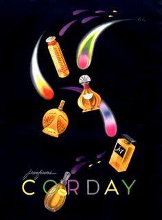 Corday Perfumes, 1947. Image by Bobri.