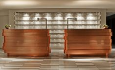 copper Reception and hairspray cans painted white as art @ W Hotel Lakeshore