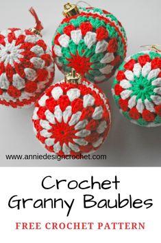 Crochet Christmas Decorations, Crochet Decoration, Christmas Crochet Patterns, Crochet Snowflakes, Holiday Crochet, Christmas Baubles, Christmas Crafts, Diy Crochet Ornaments, Crochet Christmas Wreath