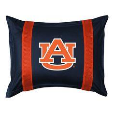 Auburn Tigers Standard Pillow Sham, Blue