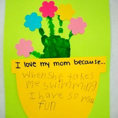 Cute homemade card for Mom - great for Mother's Day or Mom's birthday!
