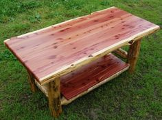 Amish Made Rustic Red Cedar Coffee Table Available At Cabin Creations