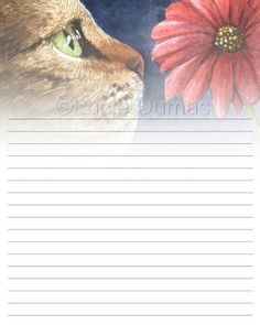 Lined Page Template Digital Printable Journal Writing Lined Page Bird 64 Crow Raven .