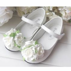 White Patent Leather Flower Girl Girls Mary Jane Party Dress Shoes SKU-133378