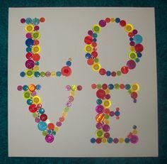 LOVE button canvas  www.buttonjunctio...