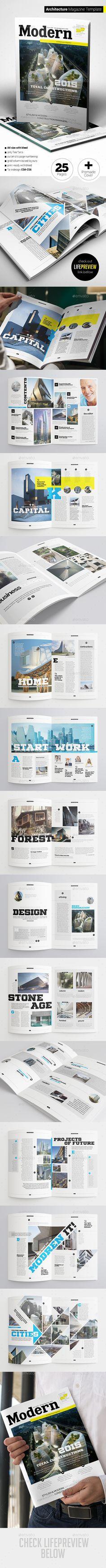 Architecture Magazine Template InDesign INDD #design Download: http://graphicriver.net/item/architecture-magazine/13512986?ref=ksioks