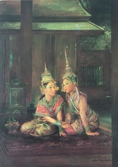 """In love"", 1989, oil on canvas, by a Thai national artist Chakrabhand Posayakrit"