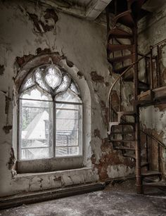 The Staircase by Marzena Grabczynska Lorenc - abandoned church in Pennsylvania…