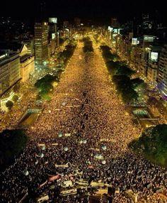 argentina a la final l Impresionante el pueblo tan unido y tan feliz