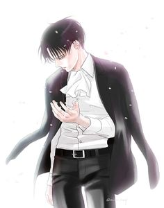 Gorgeous Levi by 苺野めりー★– posted with very kind permission. Please do not remove source or repost. Thinking of Erwin…
