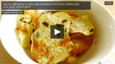 Here's a super fun and fast way to make healthier potato chips without all the preservatives and sodium. It's so easy to just slice up a potato, some sour cream and chives and pop them in the microwave. It takes about 10 minutes and is probably even cheaper than running to the store for a …