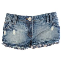 Womens Soul Cal Ditsy Hotpants ($30) ❤ liked on Polyvore featuring shorts, bottoms, short, pants, hot short shorts, short shorts, blue short shorts, blue hot pants and blue shorts