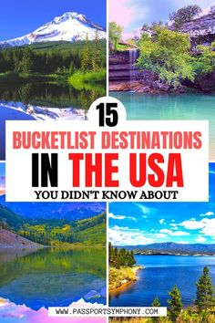 Are you traveling in the US and are looking for some USA travel inspiration? Check out our guide of the most beautiful bucket list destinations in the USA you probably didn't know about!   #hiddenusa #usaoffthebeatentrack #usadestinations #usabucketlist Usa Travel Guide, Travel Usa, Travel Guides, Travel Tips, Canada Travel, Us Travel Destinations, Places To Travel, Road Trip Usa, Usa Roadtrip