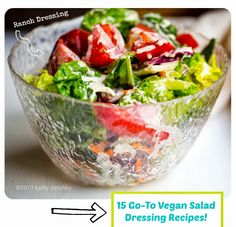 15 delicious vegan salad dressing recipes guaranteed to take your salad from ho-hum to yum.