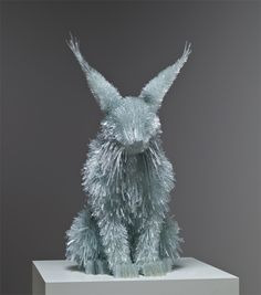 Figures constructed of shards of glass  By Marta Klonowska