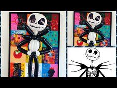 Jack Skellington balloon tutorial cute and fast balloon design. Halloween Witch Hat, Halloween Art, Happy Halloween, Witch Hats, Halloween Balloons, Scary Halloween Decorations, Youtube Halloween, Haunted House Props, Yard Haunt