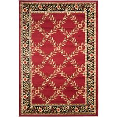 Safavieh Lyndhurst Red/Black 5 ft. 3 in. x 7 ft. 6 in. Area Rug - LNH557-4090-5 - The Home Depot