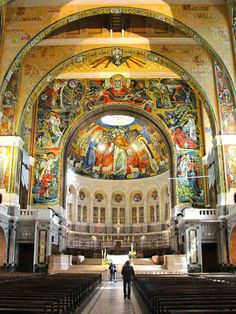 Basilica of St. Therese - Lisieux France interior