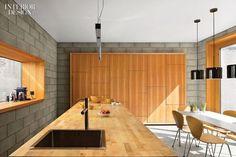 concrete block walls in house - Google Search