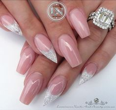 Nude with White Sparkles ✨ Snapshot ... Sculptured Acrylic with Young Nails Cover Pink & Sea Spray Glitter. #white #sparkle #shimmer #nude #softpink #classic #quality #bling #diamonds #pretty #nailartist #nailart #luminous #icing #frosting #luminousnails #luminousnailsandbeauty #goldcoast #queensland #australia #gorgeous #stunning #acrylicnails