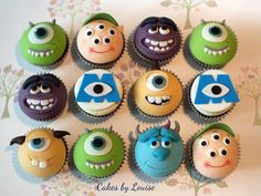 Monsters University cupcakes!!!