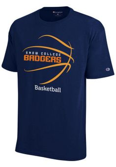 basketball+spirit+shirts | Product: Snow College Badgers Basketball T-Shirt