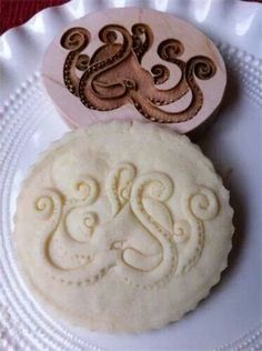 Octopus cookie stamp.