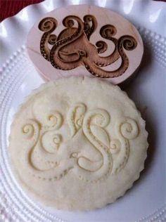 Octopus cookie stamp.