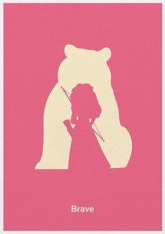 Brave Minimalist Movie Poster by Posterinspired on Etsy