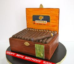 Celebrate with Cake!: Cigar Box Cake