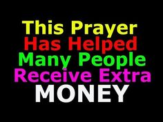 Prayer for Unexpected Money Gifts - Unexpected Money and Income Prayers - YouTub. Prayer For Financial Help, Prayer For Finances, Financial Prayers, Good Luck Spells, Easy Love Spells, Prayer Verses, Prayer Quotes, Prayer Prayer, Faith Prayer