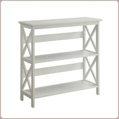 Wooden 3 Tier Bookcase White Minimal Compact Furniture Complements Any Decor #Branded #MinimalCompactFurniture