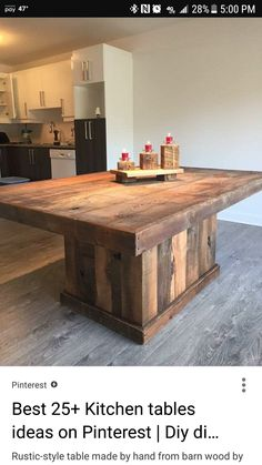 Rustic-Style table made by hand from barn wood by designdantan future home Pallet Furniture, Furniture Projects, Rustic Furniture, Furniture Design, Furniture Plans, Barbie Furniture, Garden Furniture, Furniture Stores, Farmhouse Furniture