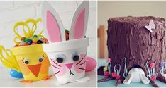 12 nápadů na velikonoční dekorace za hubičku Easter Flowers, Flower Pots, Mugs, Drawings, Tableware, Crafts, Flower Vases, Plant Pots, Dinnerware