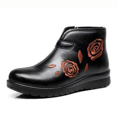 24.57$  Watch here - http://alim50.shopchina.info/go.php?t=32787732576 - Winter plus velvet warm non slip boots with the elderly in the Mianxie Mianxie short boots women 's shoes  24.57$ #buyonline