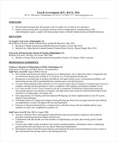 Entry Level Nursing Resume Format   Nursing Resume Template