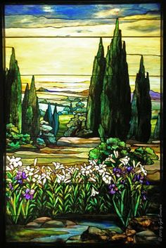 Chicago - Architecture & Cityscape: Smith Museum : Tiffany Gallery [ Landscapes by y Agnes F. Northrop]