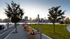 Coriolistic Anachronisms | Queens' Gantry Plaza State Park on the East River - hammocks