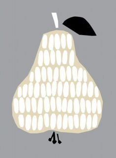 Poster Pear by Darling Clementine