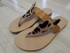 Sandals with pony skin our collection