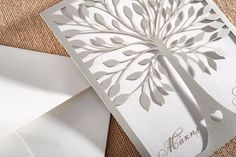 www.biniatian.gr Laser cut wedding invitation  Πρόσκληση Γάμου lasercut