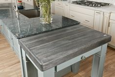 Best Grey Stained Butcher Block Countertop Blue House Stuff 400 x 300
